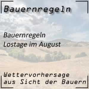 Bauernregeln Lostage im August