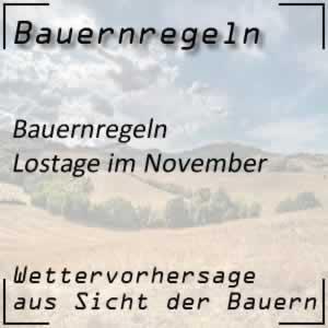 Bauernregeln Lostage im November