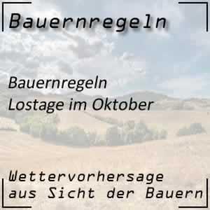 Bauernregeln Lostage im Oktober