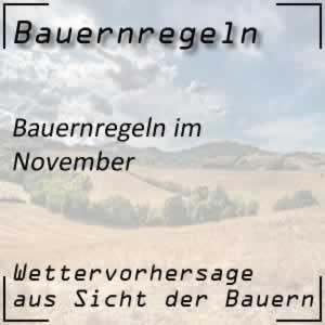 Bauernregeln im November