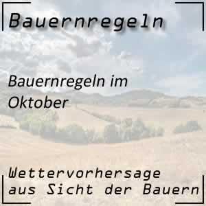 Bauernregeln Oktober