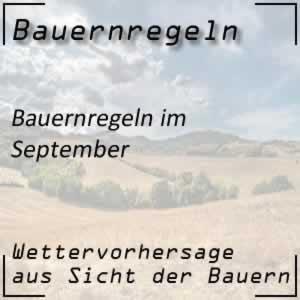 Bauernregeln September