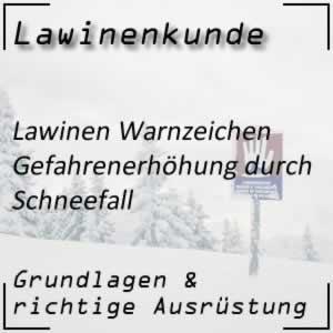 Lawinenwarnzeichen Schneefall