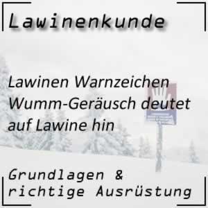 Lawinenwarnzeichen Wumm-Geräusch