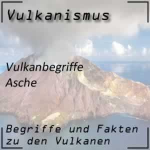 Asche beim Vulkan