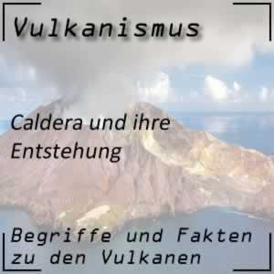 Caldera beim Vulkan