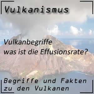 Effusionsrate beim Vulkanausbruch