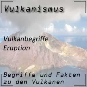 Eruption oder Vulkanausbruch
