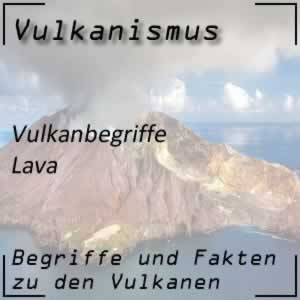 Lava beim Vulkanausbruch