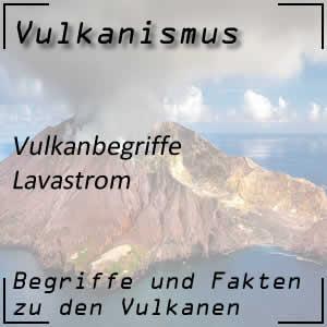 Lavastrom beim Vulkanausbruch