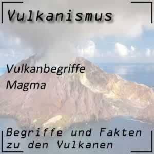 Magma im Vulkaninneren