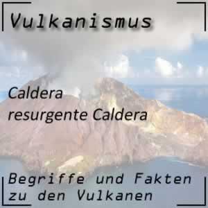 Resurgente Caldera beim Vulkan