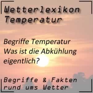 Abkühlung beim Wetter