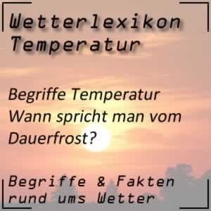 Dauerfrost und seine Definition beim Wetter