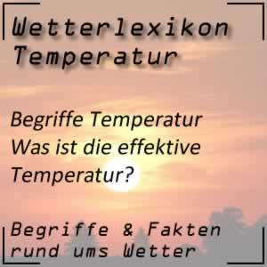 effektive Temperatur beim Wetter