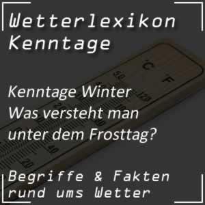 Frosttag Wetterstatistik