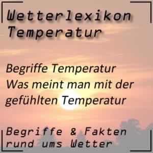 Gefühlte Temperatur