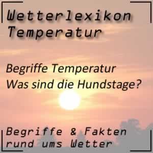 Wetterlexikon Hundstage und Sommerwetter