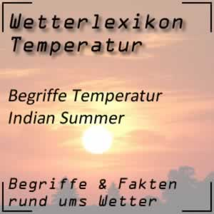 Wetterlexikon Indian Summer