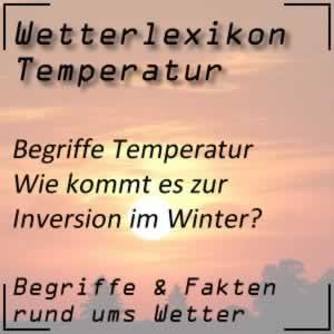 Wetterlexikon Inversion