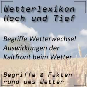 Wetterlexikon Kaltfront