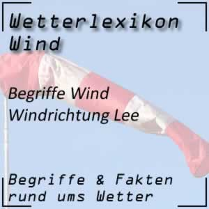 Lee beim Wind