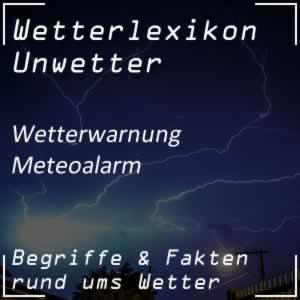 Meteoalarm Wetterwarnung