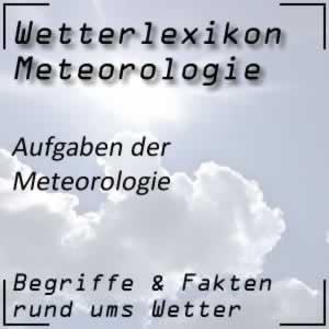 Aufgaben der Meteorologie