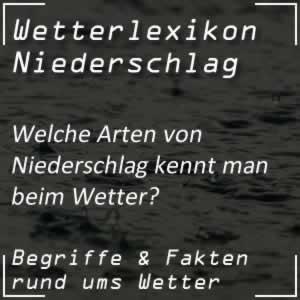 Wetterlexikon Niederschlag