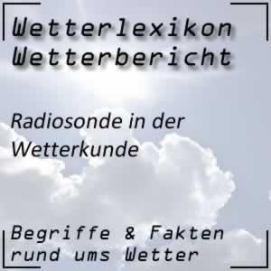 Radiosonde für den Wetterbericht