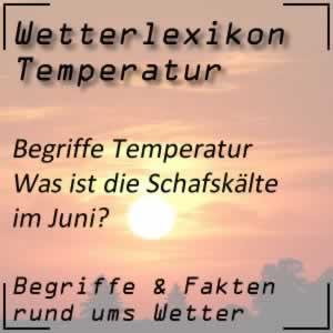 Wetterlexikon Schafskälte