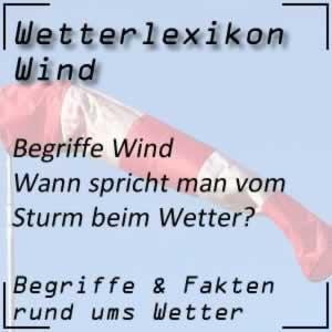 Wetterlexikon Sturm
