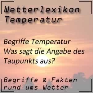 Taupunkt und seine Bedeutung beim Wetter