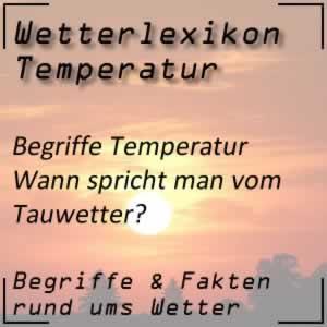 Wetterlexikon Tauwetter