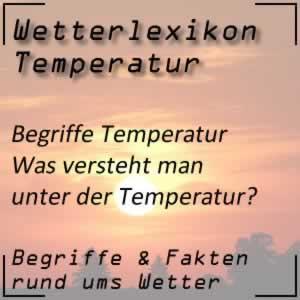 Wetterlexikon Temperatur