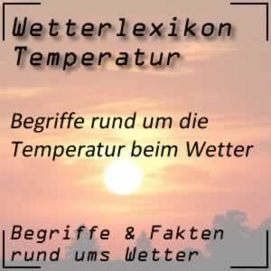 Wetterbegriffe zur Temperatur