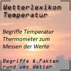 Wetterlexikon Thermometer