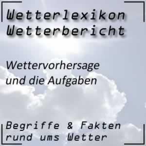 Wetterlexikon Wettervorhersage