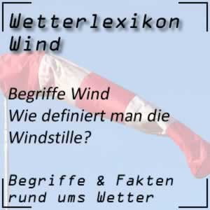 Windstille beim Wind