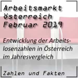 Arbeitslosenzahlen in Österreich im Februar 2019