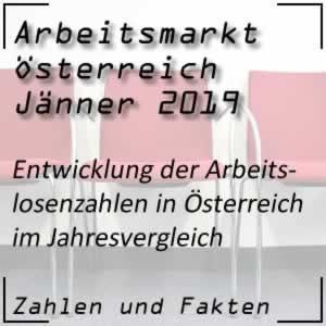Arbeitslosenzahlen in Österreich im Jänner 2019