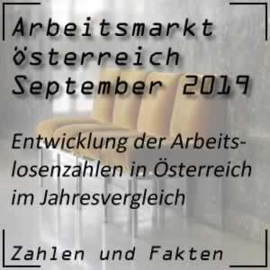 Arbeitslosenzahlen Österreich September 2019