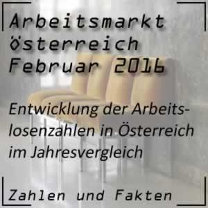 Arbeitslosigkeit Österreich Februar 2016