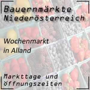 Wochenmarkt in Alland mit den Öffnungszeiten