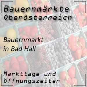 Bauernmarkt Bad Hall mit den Öffnungszeiten