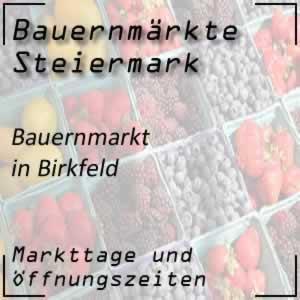 Bauernmarkt Birkfeld mit den Öffnungszeiten
