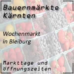 Bauernmarkt Bleiburg mit den Öffnungszeiten