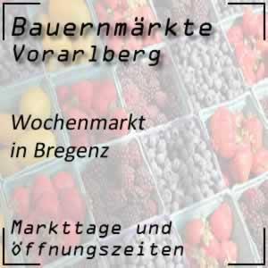 Wochenmarkt Bregenz mit den Öffnungszeiten