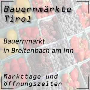 Bauernmarkt Breitenbach am Inn mit den Öffnungszeiten