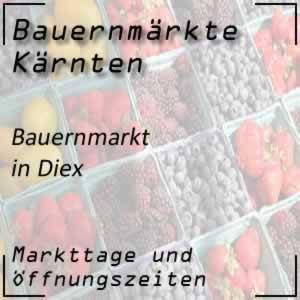 Bauernmarkt Diex (Sommermonate)